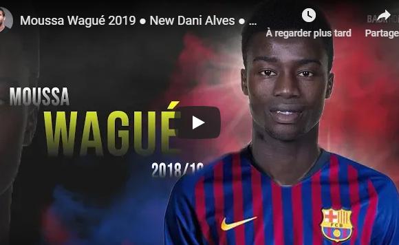 Vidéo- FC Barcelone: Moussa Wagué, le « nouveau » Daniel Alves ?