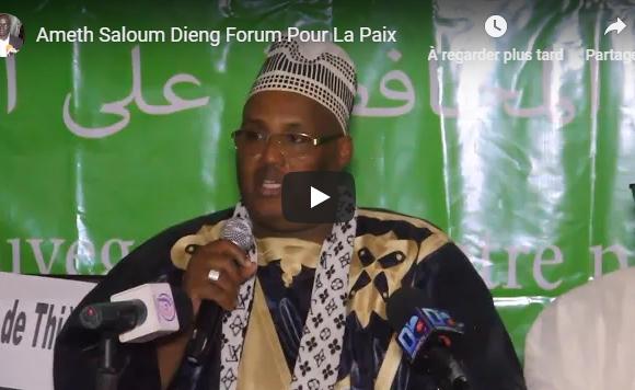 16 ème édition du Forum islamique pour la Paix: Discours introductif de Ameth Saloum Dieng