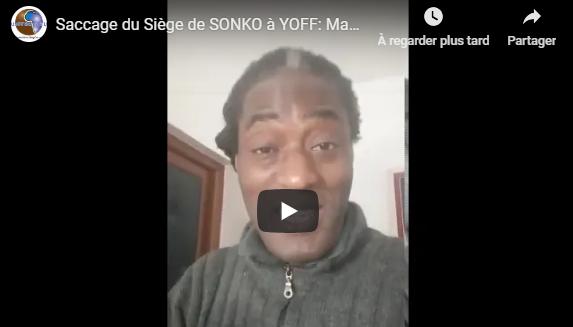 Saccage du Siège de SONKO à YOFF: Mame Goor Diazaka dément