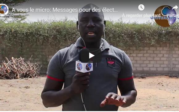 A vous le micro: Messages pour des élections apaisées