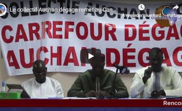 Le collectif Auchan dégage remet au Candidat Ousmane SONKO le mémorandum
