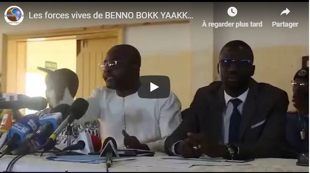 (Vidéo) Les forces vives de BENNO BOKK YAAKKAAR critiquent Idrissa SECK