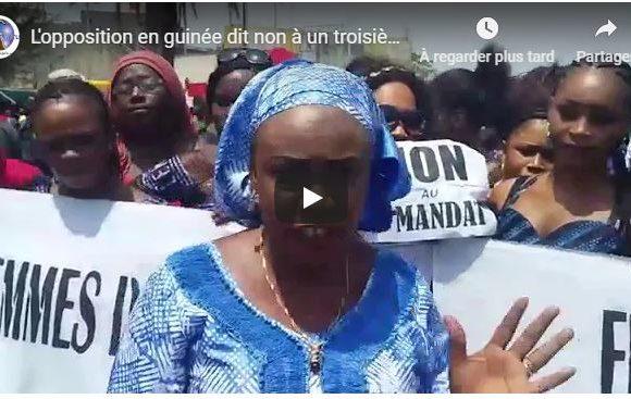 L'opposition en guinée dit non à un troisième mandat pour Alpha Condé