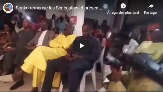 Sonko remercie les Sénégalais et présente ses condoléances pour les familles des victimes