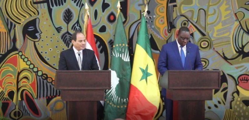(vidéo)Visite officielle du Président de l'Egypte :Déclaration du Président Macky SALL