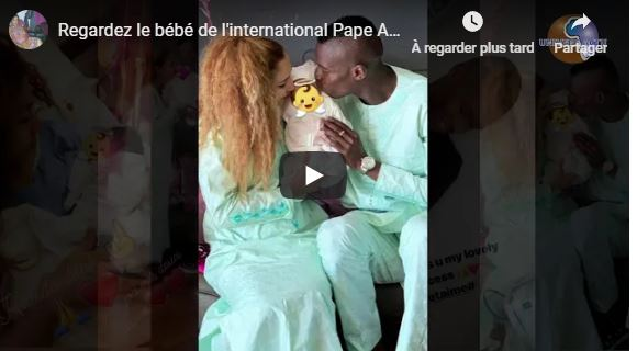 Regardez le bébé de l'international Pape Abou CIssé et Jihanne la danseuse de Pape DIOUF