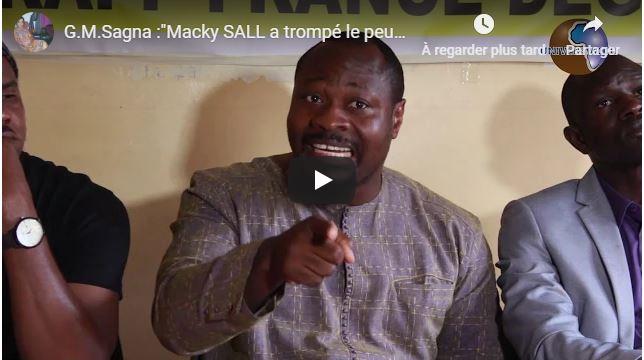 G.M.Sagna :»Macky SALL a trompé le peuple Sénégalais»