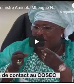 (Vidéo) la visite du Ministre Aminata Mbengue Ndiaye au COSEC