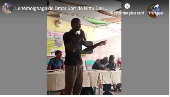 Le témoignage de Omar Sarr de Nittu Deug sur Guy Marius Sagna