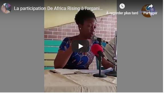 La participation De Africa Rising à l'organisation de la journée de la libérationAfricaine