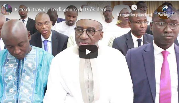 (Vidéo)Fête du travail : Le discours du Président Macky SALL