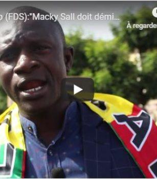(Vidéo) Babacar Diop (FDS):»Macky Sall doit démissionner et traduit devant la haute cour de justice»