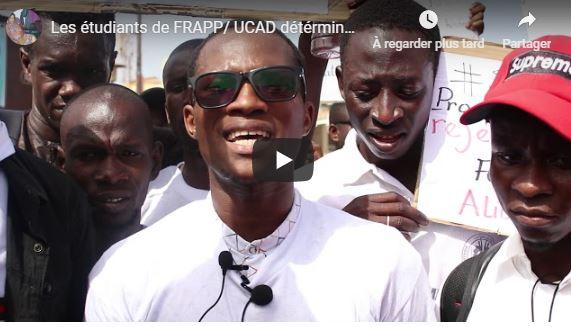 (Vidéo)Les étudiants de FRAPP/ UCAD détérminés pour porter le combat au sein de Aar Linu BOKK