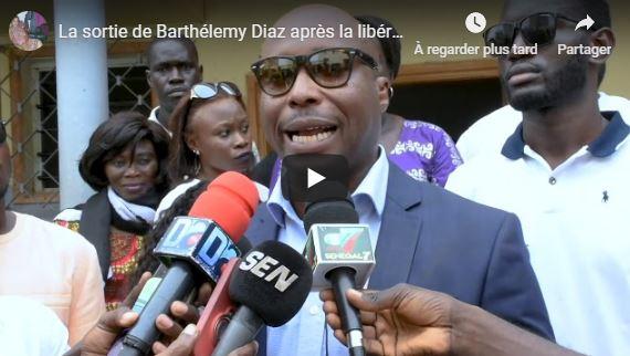 La sortie de Barthélemy Diaz après la libération de Khalifa Sall