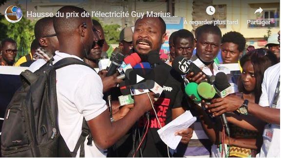 Hausse du prix de l'électricité Guy Marius Sagna parle d'un mensonge d'état