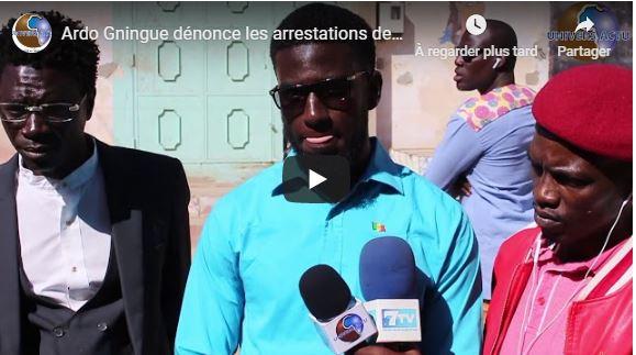 Ardo Gningue dénonce les arrestations des manifestants par des civils sans carte professionnelle