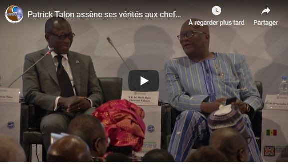 Patrick Talon assène ses vérités aux chefs d'états africains