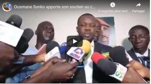 Ousmane Sonko apporte son soutien au collectif Nio Lank