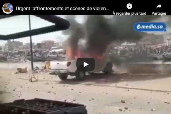 Urgent :affrontements et scènes de violences à Saint Louis