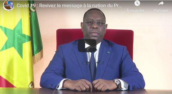 Covid 19 : Revivez le message à la nation du Président Macky Sall