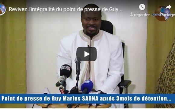 Revivez l'intégralité du point de presse de Guy Marius Sagna après 3 mois de détention au camp pénal