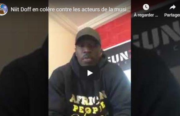 Niit Doff en colère contre les acteurs de la musique reçus par le Président Macky Sall