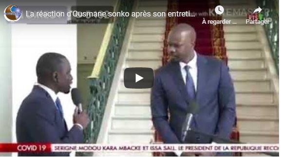La réaction d'Ousmane sonko après son entretien avec le PR Macky Sall dans le cadre du Covid19
