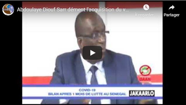 Abdoulaye Diouf Sarr dément l'acquisition du vaccin contre le covid19 par les autorités Sénégalaises