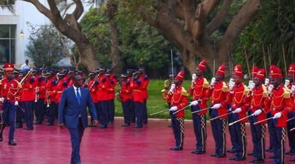 Brève cérémonie de levée des couleurs nationales ce samedi, au Palais de la République pour célébrer 60 ème anniversaire de l'indépendance