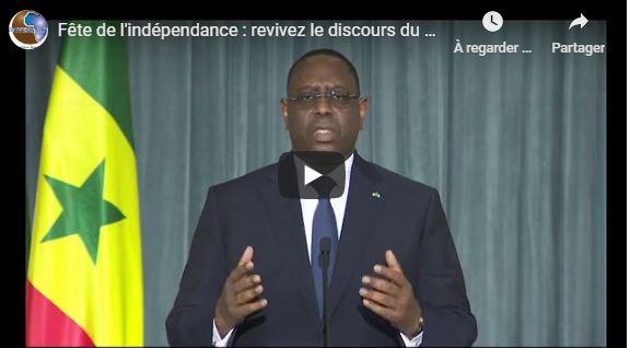 Fête de l'indépendance : revivez le discours du président Macky Sall