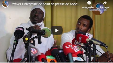 Revivez l'intégralité de point de presse de Abdou karim Gueye après sa libération