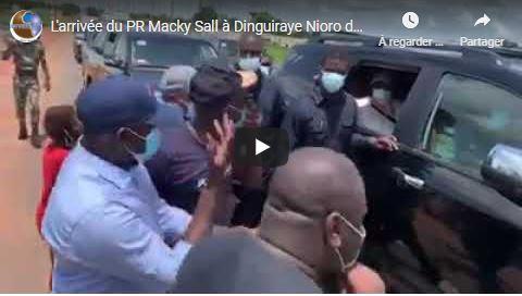 L'arrivée du PR Macky Sall à Dinguiraye Nioro dans le cadre de la tournée agricole