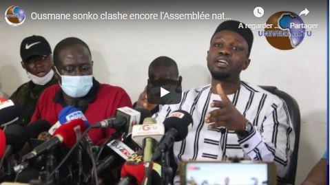 Ousmane sonko clashe encore l'Assemblée nationale