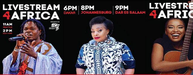 Le deuxième concert ''LiveStream4Africa'' avec Baba Maal, Yvonne Chaka Chaka et Berita animeront