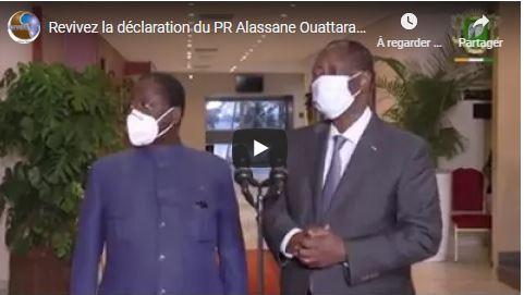 Revivez la déclaration du PR Alassane Ouattara après sa rencontre avec Henri K BEDIE