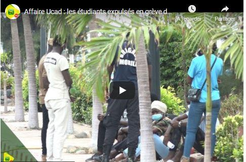 Les étudiants expulsés de l'Ucad en grève de faim