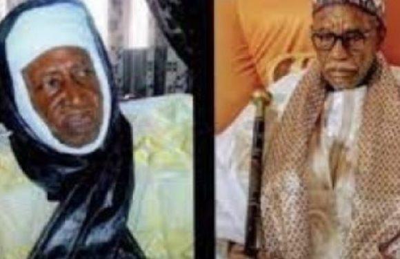 Macky Sall  rend hommage aux khalifes des layènes, Abdoulay Thiaw Laye, et de Thiénaba, Abdourahim Seck .