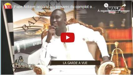 Pape Ndiaye de walfTV apporte les preuves du complot orchestré contre lui