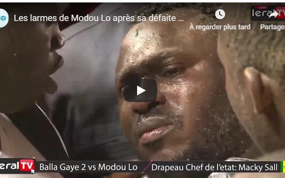 Vidéos : Les larmes de Modou Lo après sa défaite contre Balla Gaye 2