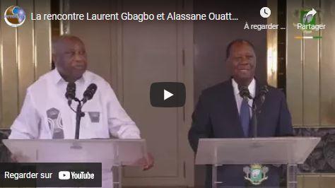 La rencontre Laurent Gbagbo et Alassane Ouattara : voici leur déclaration